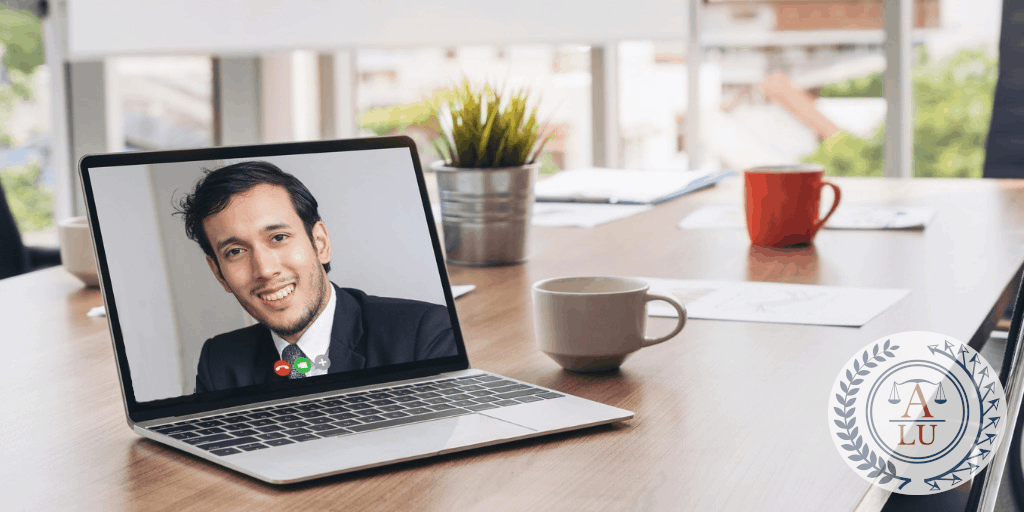 Person in a virtual interview